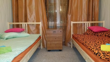 Двухместный номер с одноярусными кроватями